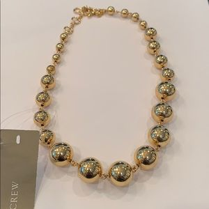 J. Crew graduated gold bead necklace